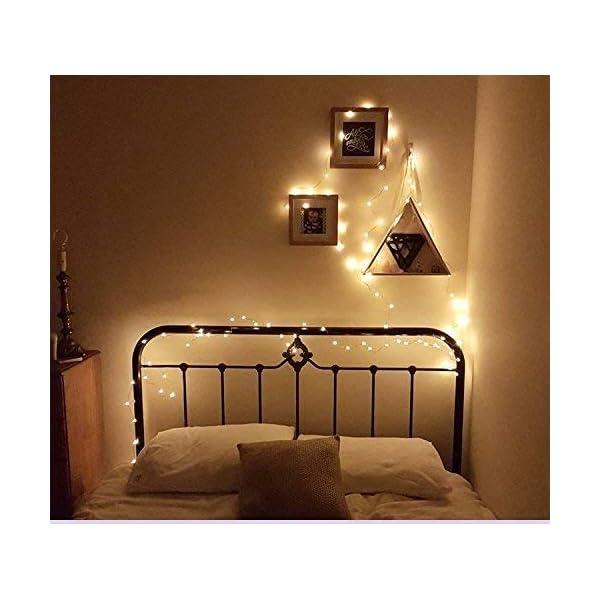 Stringa Luci LED, 2 x 10M Catena Luminosa Batteria Luci Natale 100 LEDs per Natalizie Decorazioni Interno ed Esterno Telecomando 8 Modalità Impermeabile(Giallo Caldo) 3 spesavip