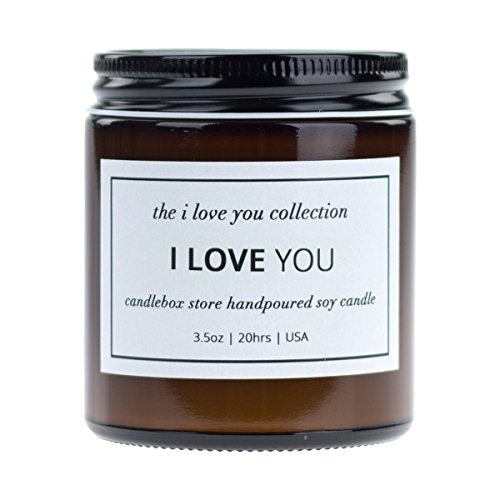 CandleBox Store - Orange, Vanilla & Sage Scented Candles, I Love You, 2Pack Home & Gift Soy Candle, 3.5 oz, 20 hrs Burn Time