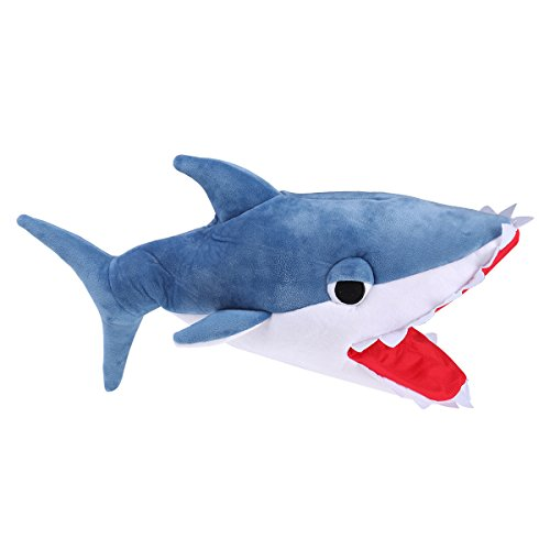 Tinksky Stereoscopic Eating Shark Hat Festival Party Costume Shark Hat Creative Shark Hat (Blue) - Halloween Costumes Party Favors -