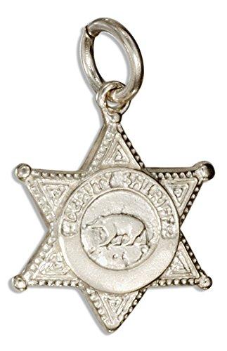Sterling Silver Deputy Sheriff Badge Charm (Badge Charm Sheriffs)