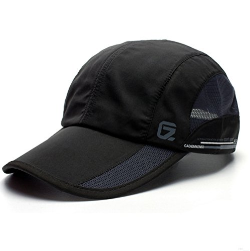 Brooks Running Hat (GADIEMKENSD Quick Dry Sports Hat Lightweight Breathable Soft Outdoor Run Cap (Classic upgrade, Black))