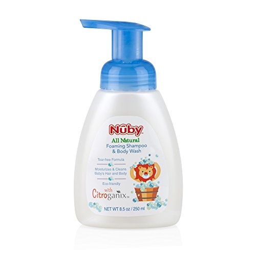 - Nuby All Natural Foaming Baby Shampoo & Body Wash with Citroganix, 8.5 Fluid Ounce