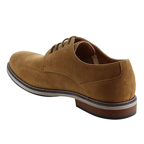 Arider AG49 Mens Casual Low Top Lace Up Office Oxfords Tan X4sWLE