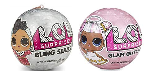 LOL Surprise Dolls Deluxe Bundle - 1 Bling and 1 Glam Glitter (Sister Bling)