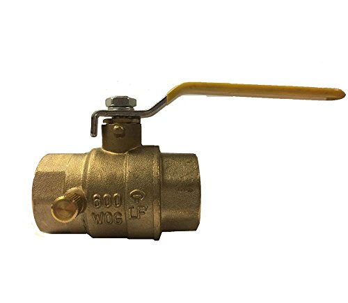 1' Npt Thread (Libra Supply 1'',1 inch, 1-inch Lead Free Threaded Brass Ball Valve with Drain, (Click in for more size options), IPS Thread, Full Support, 600 WOG, Forge Body)