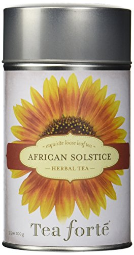 Tea Forte AFRICAN SOLSTICE Loose Leaf Herbal Tea, 3.5 Ounce Tea Tin