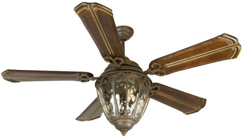 Craftmade Lighting K10523 Olivier – 70″ Ceiling Fan with Light Kit, Aged Bronze Finish with Walnut Blade Finish with Amber Tinted Glass Review