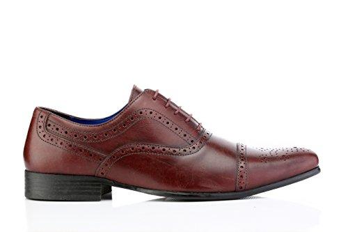 Red Tape Mens Slade Bordo Formal Shoe