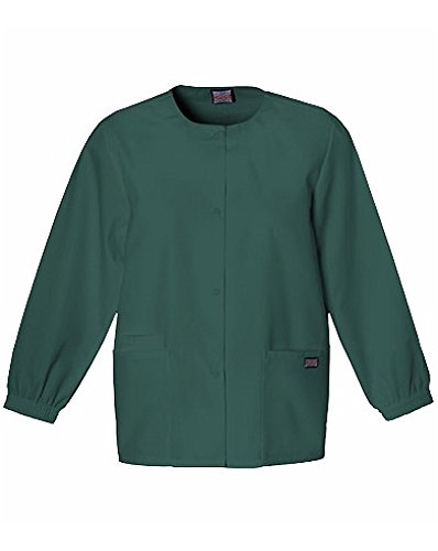(Cherokee Workwear Snap Front Warm Up 4350 (Hunter Green 1 - 4XL))