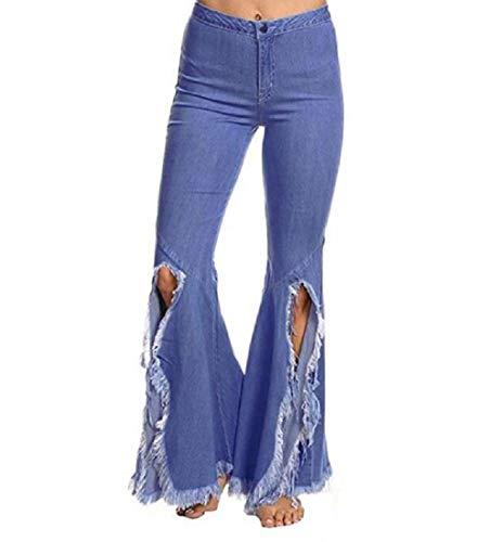 aicessess-women clothes Vaqueros - para mujer Azul Claro
