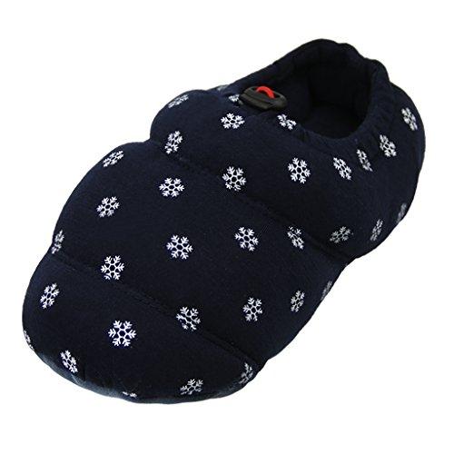 Fakeface Winter Warm Dikker Gewatteerde Katoenen Slippers Enkellaars Slio-on Huis Indoor Sloffen Booties Marine Blauw