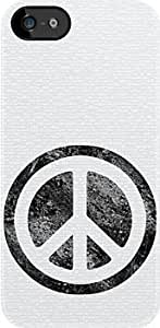 SUUER Peace Symbol white case Custom Hard CASE for iPhone 5 5s Durable Case Cover