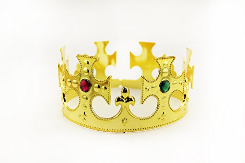 (Adorox Gold Royal King Plastic Crown Prince Costume Accessory (1))