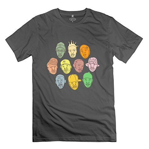 Men's Wu Tang Clan Band Member Face 100% Cotton T-shirt Size L -