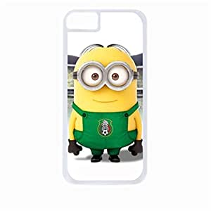 Minion in Stadium- Hard White Plastic Snap - On Case-Apple Iphone 5C Only - Great Quality!