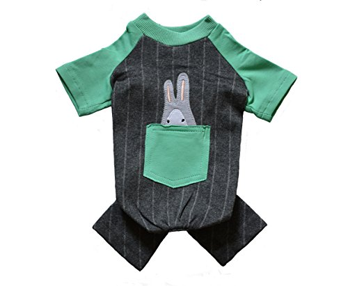 [Dog Shirt Cotton Overall Green and Grey Onesie Jumpsuit for Small Dogs Boy and Girls Summer Size] (Manly Halloween Costumes)