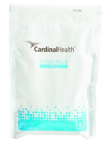 Cardinal Health 11440-900 Instant Cold Pack, Disposable, 6 x 9 in., Large, Pack of 16