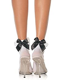 Leg Avenue womens Stocking Bow and Lace Ruffle Hosiery