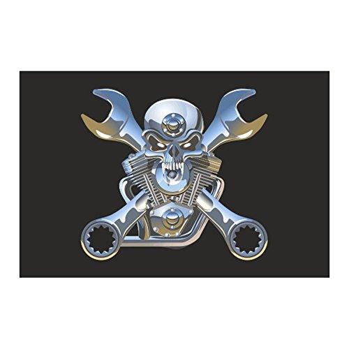 /Flag f/ür Motorr/äder Custom/ Flagge Wimpel Skull VTWIN verst/ärkten N/ähten/ /Harley/ /Trikes...