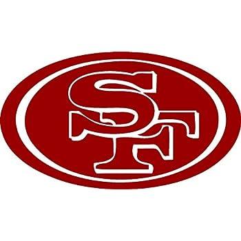 Amazon Com Sf 49ers Logo Vinyl 5 Quot Wide Color White