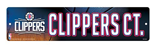 [NBA Los Angeles Clippers High-Res Plastic Street Sign] (Rico Los Angeles Clippers)