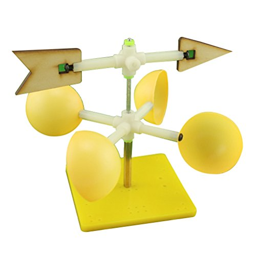 (Toyvian Wind Vane DIY Assembly Model Kids Funny Scientific Experiment Toy Educational Toys)