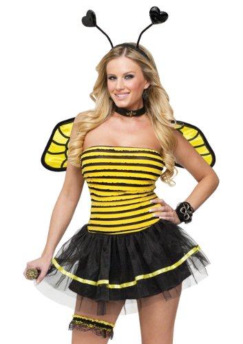 Sexy Bee Costumes (FunWorld Busy Bee, Black/Yellow, Small/Medium 2-8 Costume)