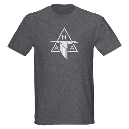 North American Aviation Dark T Shirt 100% Cotton T-Shirt Charcoal