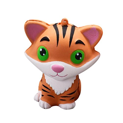 Stress Reliever squishies,NOMENI Cute 9.675.5cm Jumbo Cute Tiger Squishies squishy Slow Rising Kids Toys Doll Stress Relief Toy Decor Fun Amazing Toy