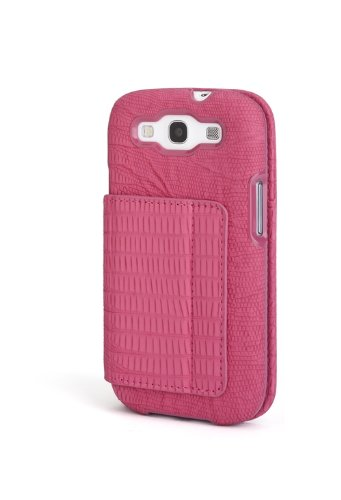 Portafolio Duo - Kensington K39614WW Portafolio Duo Wallet Case and Stand for Samsung Galaxy S III - 1 Pack - Carrying Case - Retail Packaging - Pink Snakeskin