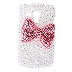 LIMME ships in 48 hours Red Bowknot Painting Pattern Rhinestone Protective Pouches for Samsung Galaxy S3 Mini I8190