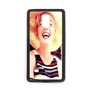 Tyquin Marilyn Monroe Samsung Galaxy Note 4 Cases Marilyn Monroe. Smile for Teen Girls, Case for Samsung Galaxy Note4 for Teen Girls [Black]