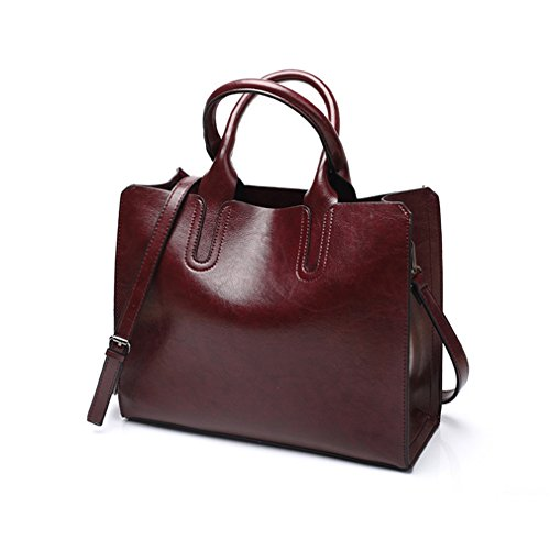 Pahajim 2017 new Women Top Handle Satchel fashion handbags for women Tote Purse (wine red)