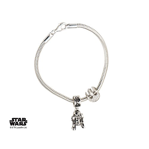 Star Wars R2-D2 925 Sterling Silver Bead Charm Bracelet w/Gift Box by Superheroes Brand by Superheroes Brand