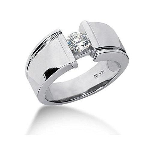 platinum diamond ring men - 5