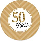 Big Dot of Happiness We Still Do - 50th Wedding Anniversary - Party Circle Sticker Labels - 24 Count