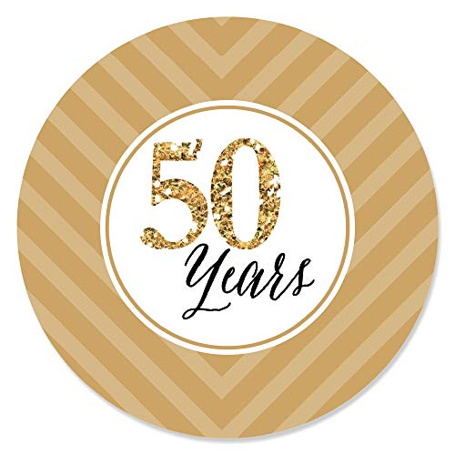 Big Dot of Happiness We Still Do - 50th Wedding Anniversary - Party Circle Sticker Labels - 24 Count ()