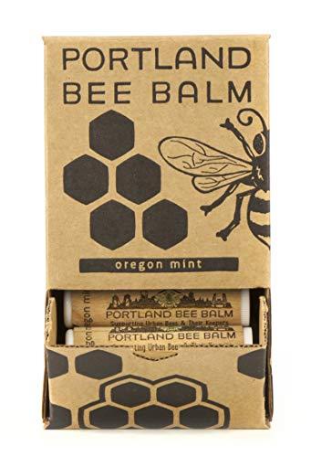 Portland Bee Balm, Beeswax Based Lip Balm - Oregon Mint, Pack of 24