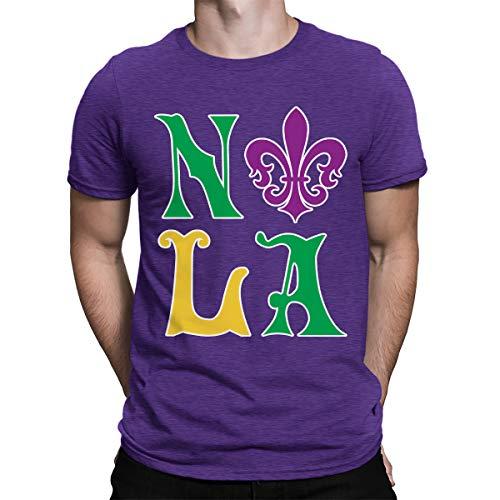 SpiritForged Apparel NOLA New Orleans Louisiana Men's T-Shirt, Purple 3XL