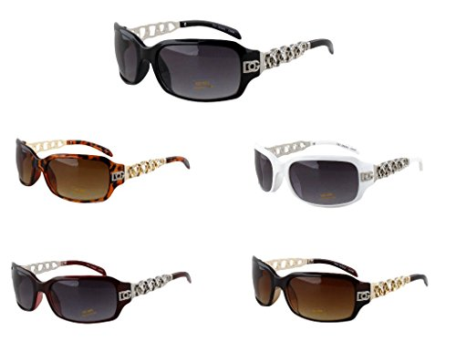 Dg Eyewear Wholesale - Wholesale DG Chain Metal Fashion Design Womens Ladies 12 Pairs Sunglasses Shades