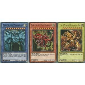 Toy / Game Yugioh Legendary Collection Ultra Rare God Card Set Of 3 Egyptian Cards Rocks (LIMITED EDITION) (Best Egyptian God Card)