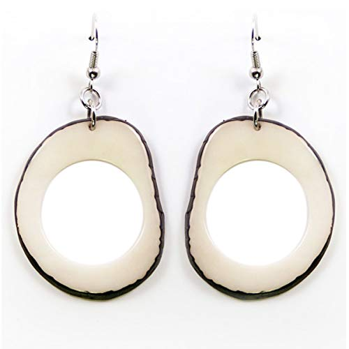 Slices Tagua Earrings in Natural Ivory ()