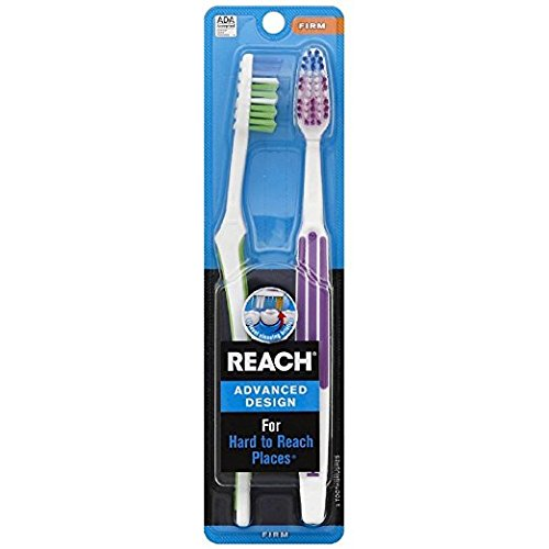 REACH Advanced Design Toothbrushes Firm Full Head Color May Vary 2 ()