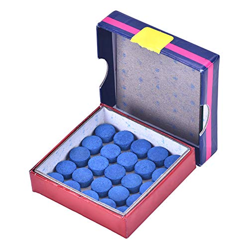 (Naroote Billiard Pool Cue Tip, Snooker Stick Pole Tips 10mm Replacement Set Box 50pcs)