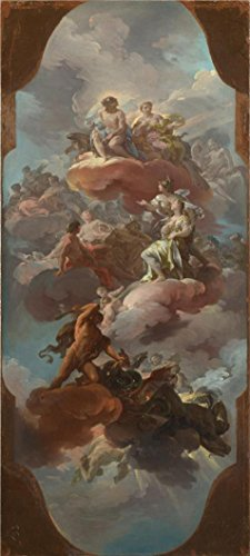 [Perfect Effect Canvas ,the Best Price Art Decorative Prints On Canvas Of Oil Painting 'Corrado Giaquinto - Apotheosis Of The Spanish Monarchy,about 1751', 18x40 Inch / 46x102 Cm Is Best For Basement Decoration And Home Decoration And] (Chicago The Musical Costume Ideas)