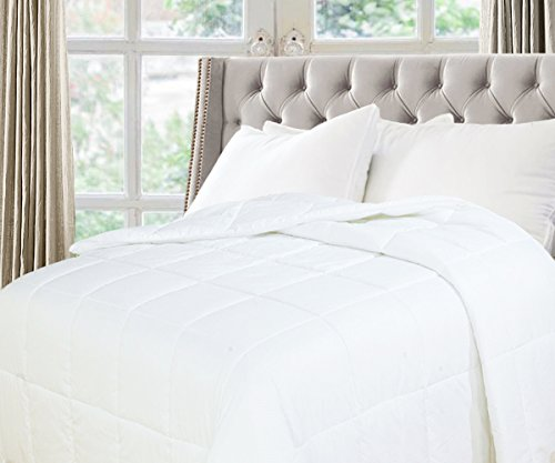 Natural Comfort White Down Alternative Comforter with Embossed Microfiber Shell, Light Weight Filled, Twin