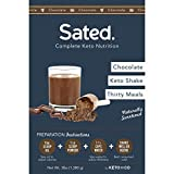 Sated Keto Meal Shake Chocolate Naturally Sweetened (Ketolent) | 30 Meals | 1.6g Net Carbs | Low Carb Meal Replacement Shake | Optimized for Complete Nutrition