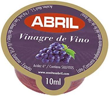 Tarrina Monodosis Vinagre de Vino Tinto Abril 10 ml - Caja de 150 tarrinas ideal para Hostelería y Cafeterías