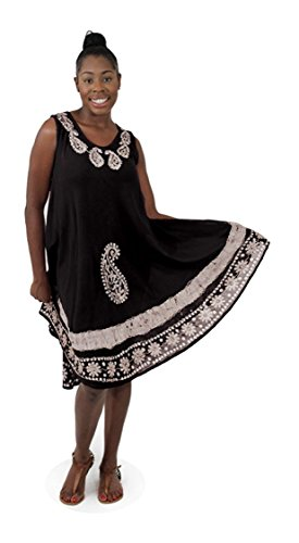 black and white african print dress - 3