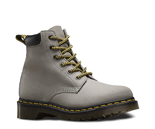 (Dr. Martens Women's 939 6-Eye Hiker Boot Concrete Greasy Suede 9 UK )